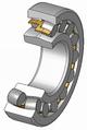 Самоустанавливающийся двухрядный радиальный роликовый подшипник с бочкообразными роликами (сферический)
